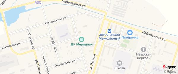Сосновый переулок на карте Межозерного поселка с номерами домов