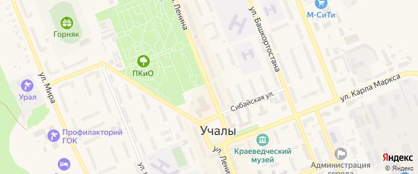 Улица Ленина на карте Учалы с номерами домов