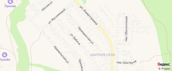 Ирандыкская улица на карте Учалы с номерами домов