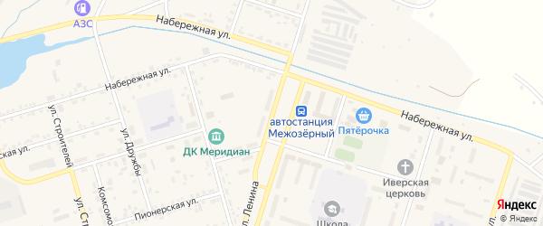 Улица Ленина на карте Межозерного поселка с номерами домов