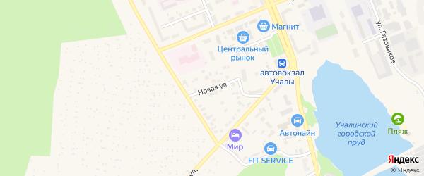 Новая улица на карте Учалы с номерами домов