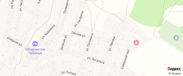 Лесная улица на карте Межозерного поселка с номерами домов