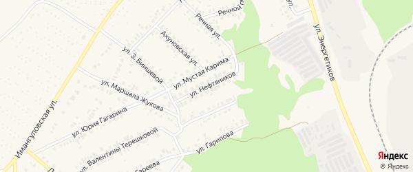 Улица Нефтяников на карте Учалы с номерами домов