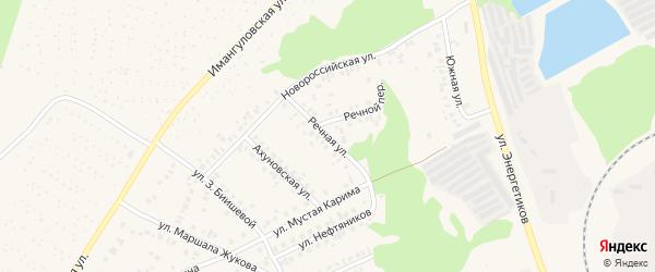 Речной переулок на карте Учалы с номерами домов