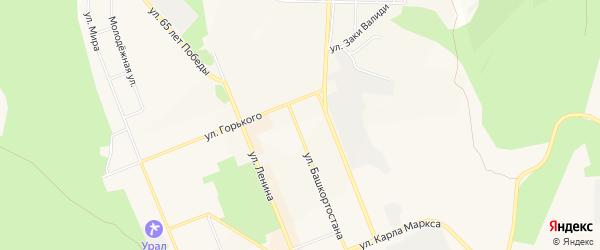 Коллективный сад N 24 на карте Учалы с номерами домов