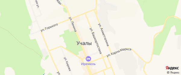Коллективный сад N 15 на карте Учалы с номерами домов
