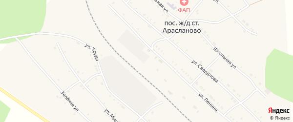 Пролетарская улица на карте поселка Арасланово с номерами домов