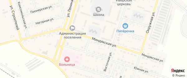 Миндякская улица на карте Межозерного поселка с номерами домов