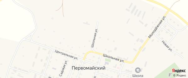 Зеленая улица на карте Первомайского поселка с номерами домов