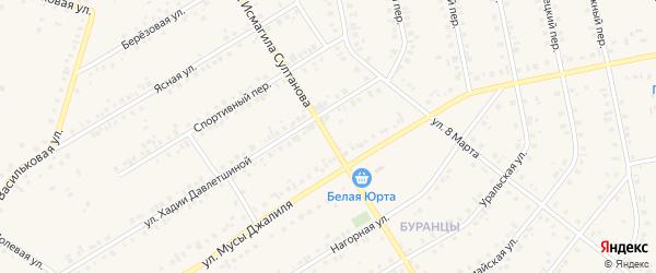 Улица Исмагила Султанова на карте Учалы с номерами домов