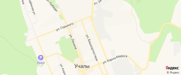 Коллективный сад N 18 на карте Учалы с номерами домов