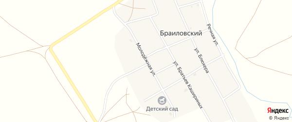 Молодежная улица на карте Браиловского поселка с номерами домов