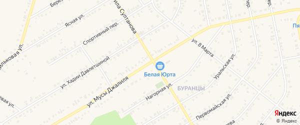 Улица Мусы Джалиля на карте Учалы с номерами домов