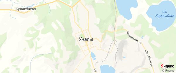 Карта Уральского сельсовета республики Башкортостан с районами, улицами и номерами домов