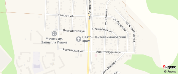 Улица Ахметгалина на карте Учалы с номерами домов