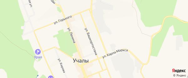 Коллективный сад N 14 на карте Учалы с номерами домов