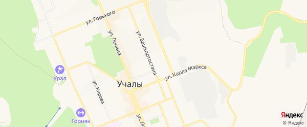 Коллективный сад N 10 на карте Учалы с номерами домов