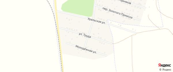 Улица Труда на карте Межозерного поселка с номерами домов