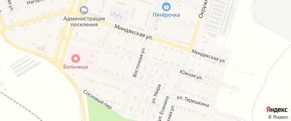 Южная улица на карте Межозерного поселка с номерами домов