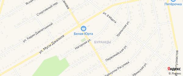 Нагорная улица на карте Учалы с номерами домов
