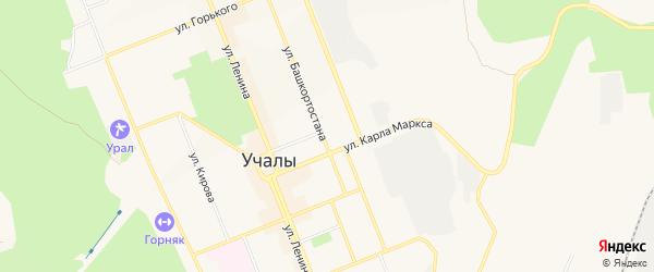 Коллективный сад N 8 на карте Учалы с номерами домов