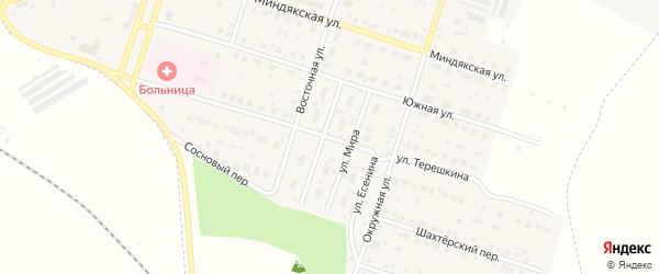 Улица Терешкина на карте Межозерного поселка с номерами домов