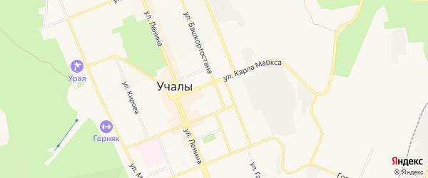 Коллективный сад N 5 на карте Учалы с номерами домов