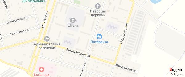Восточная улица на карте Межозерного поселка с номерами домов