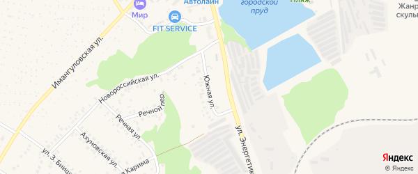 Южная улица на карте Учалы с номерами домов