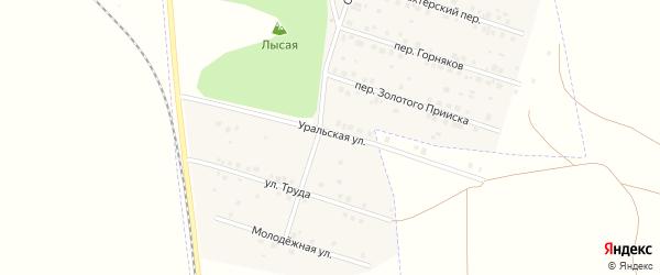 Уральская улица на карте Межозерного поселка с номерами домов