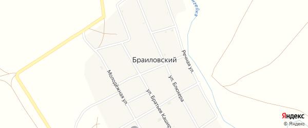 Молодежный переулок на карте Браиловского поселка с номерами домов