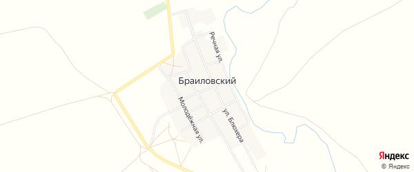 Карта Браиловского поселка в Челябинской области с улицами и номерами домов