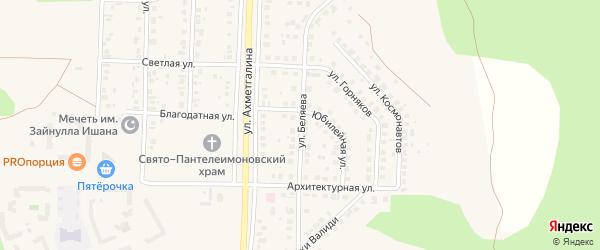 Улица Беляева на карте Учалы с номерами домов