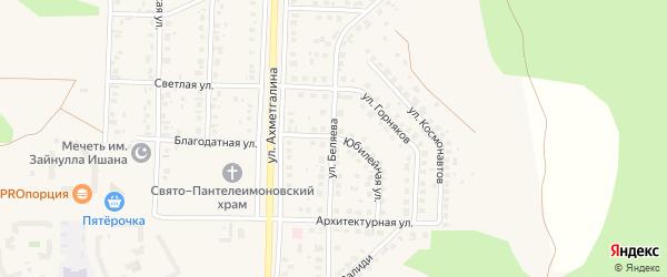 Юбилейная улица на карте Учалы с номерами домов