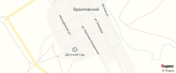 Центральная улица на карте Браиловского поселка с номерами домов