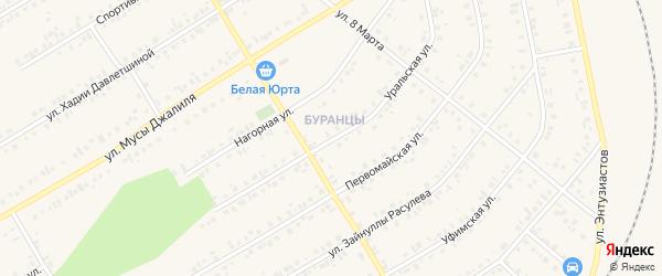 Уральская улица на карте Учалы с номерами домов