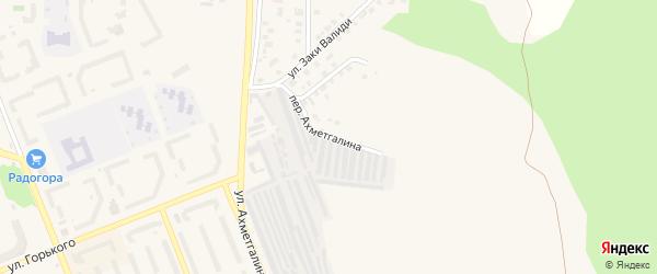 Переулок Ахметгалина на карте Учалы с номерами домов