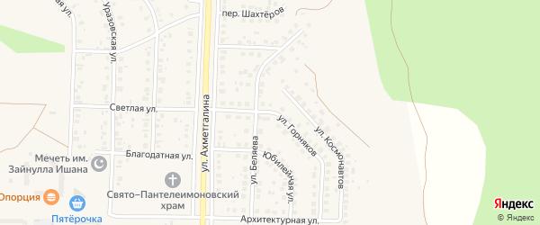 Улица Горняков на карте Учалы с номерами домов