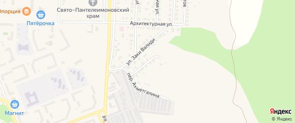 Южный переулок на карте Учалы с номерами домов