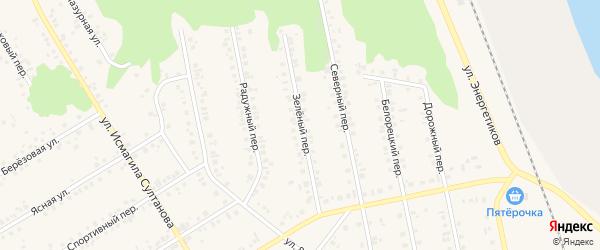 Зеленый переулок на карте Учалы с номерами домов
