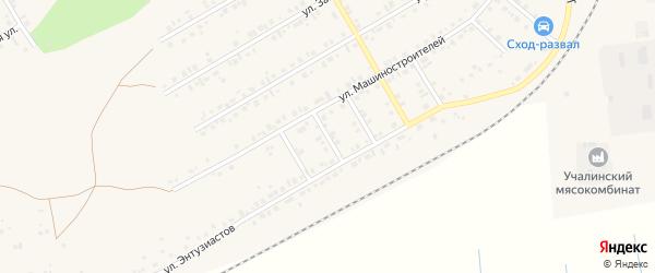 Садовый переулок на карте Учалы с номерами домов