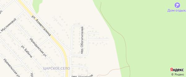 Солнечный переулок на карте села Учалы с номерами домов