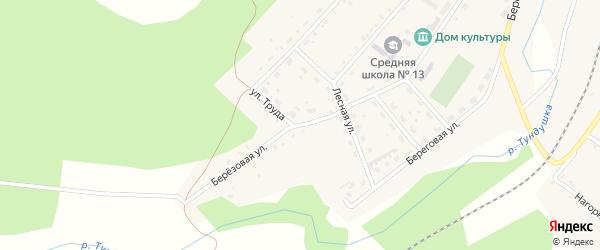 Улица Труда на карте Центрального поселка с номерами домов