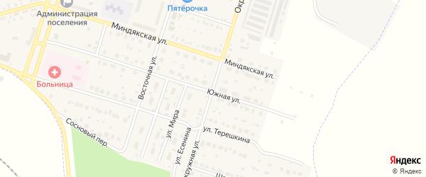 Окружная улица на карте Межозерного поселка с номерами домов