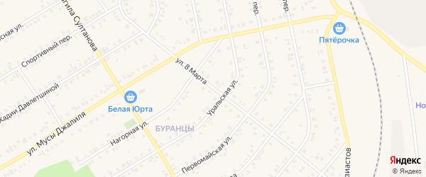 Улица 8 Марта на карте Учалы с номерами домов