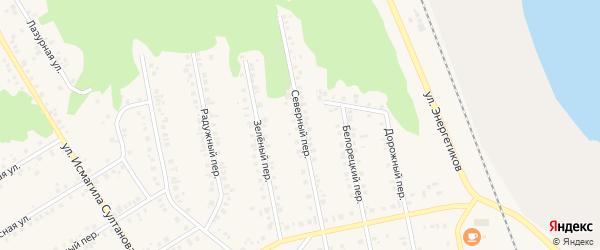 Северный переулок на карте Учалы с номерами домов