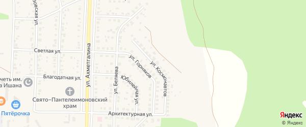 Улица Космонавтов на карте Учалы с номерами домов