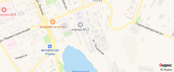 Молодежный переулок на карте Учалы с номерами домов
