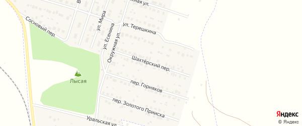 Шахтерский переулок на карте Межозерного поселка с номерами домов