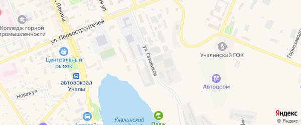 Улица Газовиков на карте Учалы с номерами домов